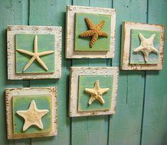 Starfish Sign Wall Art Beach House Decor One by CastawaysHall, $25.00
