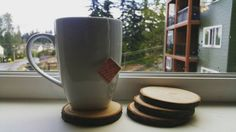 Wood Slice Coasters by LomaxAndCo on Etsy