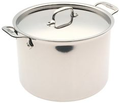 All-Clad 5512 Stainless Steel Stockpot Cookware, 12-Quart, Silver