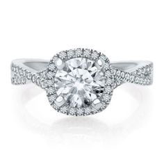 Artiste™ by Scott Kay 1/3 ct. tw. Diamond Semi-Mount Engagement Ring in 14K Gold, available at #HelzbergDiamonds