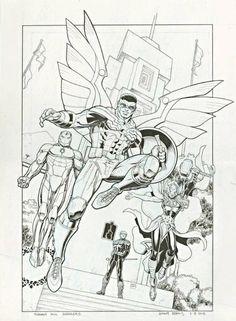 Arthur Adams - Avengers Standoff: Assault on Pleasant Hill Alpha cover Comic Art