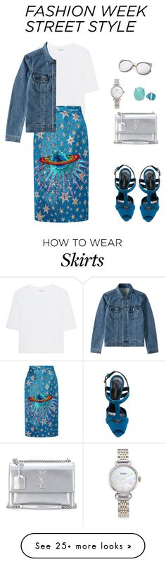 """""""Street Style!"""" by sebolita on Polyvore featuring Cotton Citizen, Gucci, Casadei, Melissa Joy Manning, A.P.C., Yves Saint Laurent and Shinola"""