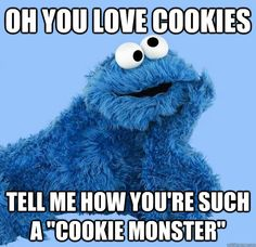 These Ginger Snap Cookies are a great accompaniment for a cup of coffee or satisfying that cookie craving. Cookie Monster Quotes, Cookie Quotes, Cookie Monster Party, Sesame Street Memes, Sesame Street Muppets, Fraggle Rock, Ginger Snap Cookies, Watch Cartoons, Girl Scout Cookies