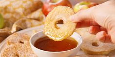 This looks so good! Apple pancake dippers.