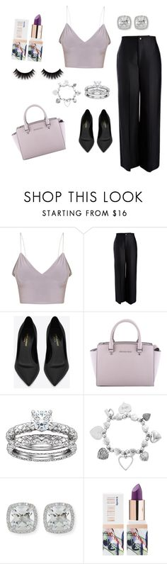 """Sem título #16"" by gabigiandu ❤ liked on Polyvore featuring Joseph, Yves Saint Laurent, MICHAEL Michael Kors, ChloBo, Frederic Sage and Teeez"