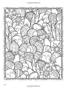 With Christmas coming so soon, we decided to share a cute little adult coloring picture of tree ornaments! We cant wait to see some awesome shading on this one :) Don't miss our next free book! Coloring Pages For Grown Ups, Coloring Book Pages, Printable Coloring Pages, Coloring Sheets, Doodle Coloring, Mandala Coloring, Christmas Colors, Christmas Art, Christmas Ornaments