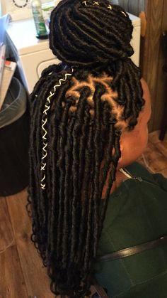 Crochet goddess locs Crochet goddess locs Source by Faux Locs Hairstyles, Braided Ponytail Hairstyles, Braided Hairstyles For Black Women, My Hairstyle, Braided Locs, Hairstyles Videos, Simple Hairstyles, Formal Hairstyles, Straight Hairstyles