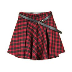 Preppy Style Plaid Mini Skirt (855 RUB) ❤ liked on Polyvore featuring skirts, mini skirts, bottoms, saias, chicnova, elastic waist skirt, short mini skirts, tartan miniskirts, short plaid mini skirt and red skirt