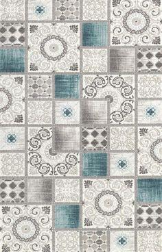 Padişah Klasik K526-063  patchwork halı turkuaz