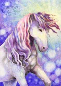 Sparkle  Unicorn Fantasy Art Print by yarmalade on Etsy