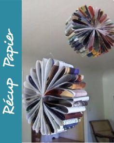 fleur en papier magazine récup recyclage bricolage à faire soi même