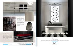 Part 2 - Magnificent 7 products : UBER Lifestyle mag issue 6 featuring Charcoal Cabochon lamp by Porta Romana