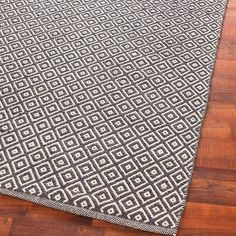 Cotton Diamond Flat Weave Rug