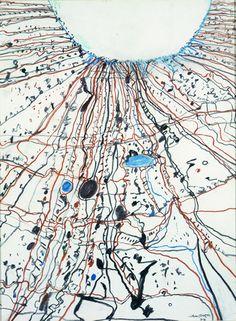 The Simpson Desert Joining Lake Eyre - John Olsen Australian Painters, Australian Artists, Landscape Art, Landscape Paintings, Landscapes, Primary School Art, Art For Art Sake, Japanese Prints, Aboriginal Art