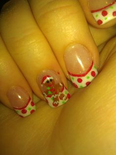 Nails by Sarah: Christmas Gingerbreadman.  Cute to do even without the gingerbread guy