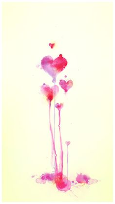 Heart watercolor, this would be awesome as a tattoo