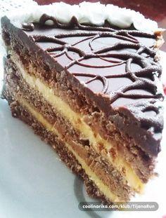 Original recept sa mjerama na kašike! Torte Recepti, Kolaci I Torte, Baking Recipes, Cookie Recipes, Dessert Recipes, Sweet Desserts, Sweet Recipes, Croation Recipes, Rodjendanske Torte