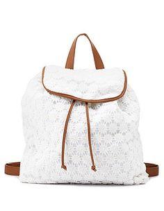 Crochet Bucket Backpack: Charlotte Russe