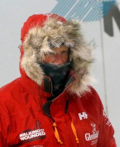 Britain's Prince Harry during a cold chamber training exercise with the Walking with the Wounded South Pole Allied Challenge 2013 British team at Nuneaton in central England on 17 Sep 2013.