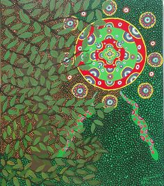 Ayahuasca Vision by Howard Charing Painting Inspiration, Art Inspo, Peruvian Art, Psychadelic Art, Sacred Plant, Medicine Wheel, Shape Art, Soul Art, Visionary Art