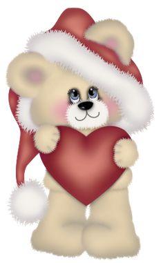 Transparent Christmas Cute Bear Clipart