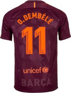 a4dff6d28 Nike Kids Ousmane Dembele Barcelona 3rd Jersey 2017-18