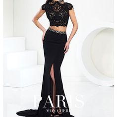 Mon Cheri Black Prom Dress