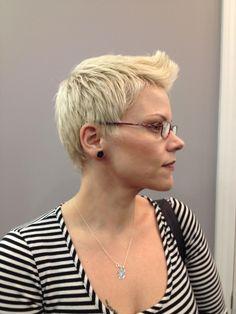 Pixie Cut. Short Hair Styles. Blonde Hair.