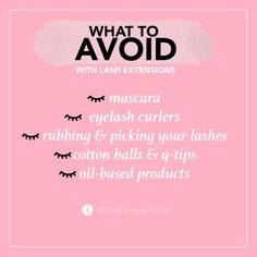 What to avoid with lash extensions ? What to avoid with lash extensions ? Linda Hallberg, Rodan And Fields, Eyebrows, Eyelashes, Mary Kay, Lash Extension Mascara, Eyelash Extensions Styles, Eyelash Extensions Aftercare, Makeup At Home