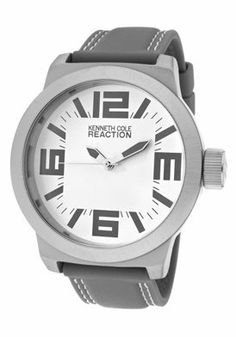 Kenneth Cole Reaction RK1253 Large Face Grey Rubber Strap Woman's Watch Kenneth Cole REACTION. $49.40. Large face and numbers. Grey Rubber Strap. Japan Quartz Movement