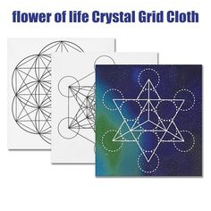 50 x 50 cm Large Crystal Grid Cloth Sacred Geometry Beautiful Healing – Bohemian Moon Boutique Crystal Altar, Crystal Grid, Seed Of Life, Large Crystals, Flower Of Life, Table Cards, Healing Stones, Sacred Geometry, White Light