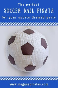 Soccer Pinata handmade number 2 character personalizef big pinata birthday party anniversary babyshower welcome party host party