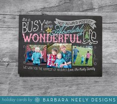 Chalkboard It's a Wonderful Life Holiday Cards by bndesigns