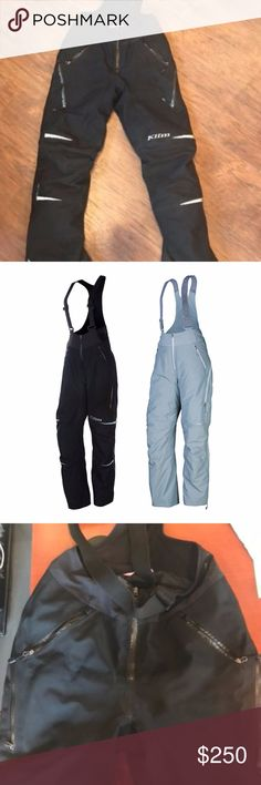 "KLIM Allure Bibs Small Tall Black Snowpants 2016 Edition Allure bibs. Retail at $389.00. These are size SMALL TALL (HARD TO FIND - trust me). I am 5'5"" and about 110lbs and these are perfect!These have been worn for two winters! The only signs of wear are on the bottoms. They are slightly fraying and a little dusty. I take excellent care of all my snow gear. These are in tip top shape besides that. Please look at photos. KLIM Pants"