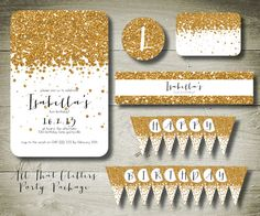 ALL THAT GLITTERS  personalised invitation by theparchmentplace, $27.00