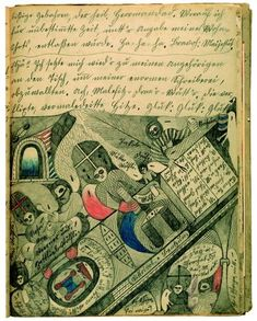 Adolf Wolfli, a swiss artist who lived in a mental asylum. This image is part of a 25,000 page illustrated narrative based on his personal mythology.
