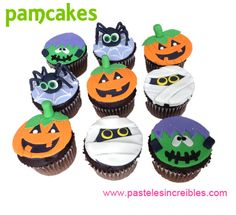 Cupcakes Halloween Pasteles Halloween, Baby Shower, Halloween Cupcakes, Desserts, Food, Fondant Cakes, Babyshower, Tailgate Desserts, Deserts