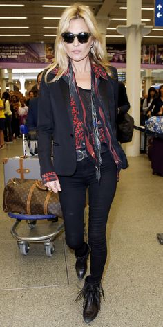 161 Celebrity-Inspired Outfits to Wear on a Plane - Kate Moss  from InStyle.com