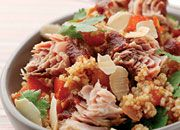 Moroccan Spiced Couscous With Tuna, Honey & Almonds - 427kcal | 47g CHO