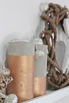 Concrete with copper / Beton mit Kupfer Deko
