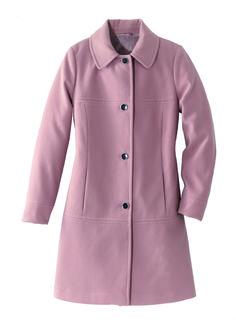 Manteau rose poudré effet lainage