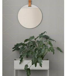 Miroir Enter cuir - Ø 45 cm