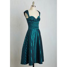 Bettie Page Pinup Long Sleeveless A-line Prove Your Groove Dress ($120) ❤ liked on Polyvore featuring dresses, blue sleeveless dress, sleeveless dress, blue polka dot dress, retro polka dot dress and sleeveless midi dress