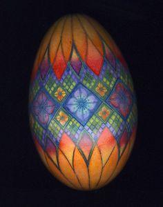 Pysanky goose egg. By Mark E. Malachowski.