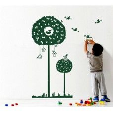 A touch of nature with a tree wall decal. Buy online, prices from Kids Room Wall Stickers, Kids Room Wall Art, Tree Wall Art, Nursery Wall Decor, Wall Decals, Wall Tattoo, Bird Tree, Turkish Towels, Tree Branches