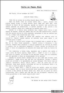 SOS PROFESSOR-ATIVIDADES: Carta ao Papai Noel