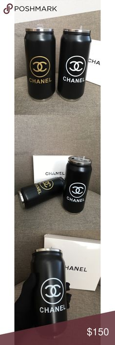 """(Set Of 2) Chanel VIP Gift Mug Water Cup BNWB Chanel VIP Gift Mug (Set Of 2)  With """"CC"""" """"CHANEL"""" letters on the front Brand New With Box  Great gift for couples This is a VIP Gift from Chanel Material: Stainless Steel Measurement: H: 6.75"""" Diameter: 2.75"""" Size: 500ml approx USA Seller !!! VIP item doesn't come with serial number, hologram sticker or authenticity card. CHANEL Other"""