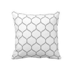 White Chic Moroccan Pillow   #pillows #pillowcases #Pillow #cases #pillowsforkids #throwpillow #chevron #zazzle #monogram #chevron