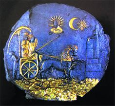 Ceremonial plaque depicting goddess Cybele on a chariot. Ai Khanoum, Afghanistan. 3rd century BC