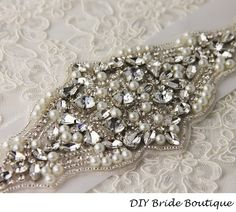 Rhinestone+applique++couture+crystal+applique+by+DIYBrideBoutique,+$49.99